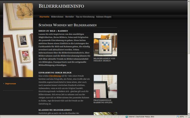 Bilderrahmen Info